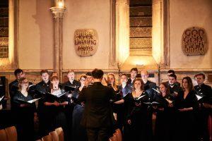 choir antiphons in side aisle